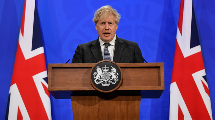Watch live as Boris Johnson holds briefing on easing lockdown restrictions