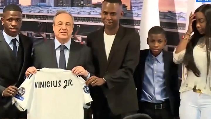 La presentación de Vinicius Jr con el Real Madrid