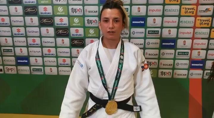 La judoka española Ana Pérez, plata en el Mundial de Budapest