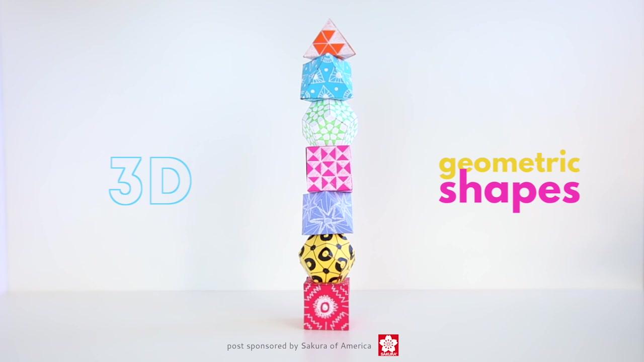 Math Art Idea 3d Geometric Shapes Babble Dabble Do