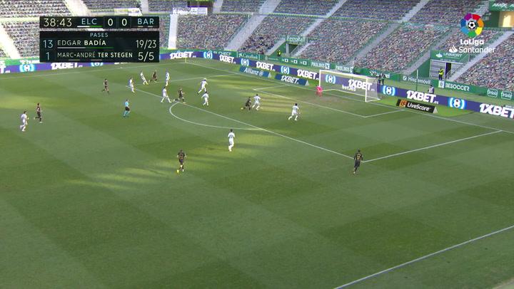 Gol de De Jong (0-1) en el Elche 0-2 Barcelona