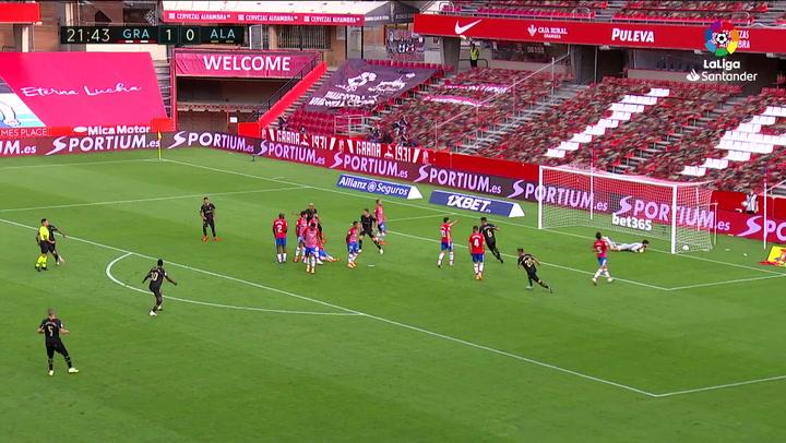 Gol de Joselu (1-1) en el Granada 2-1 Alavés