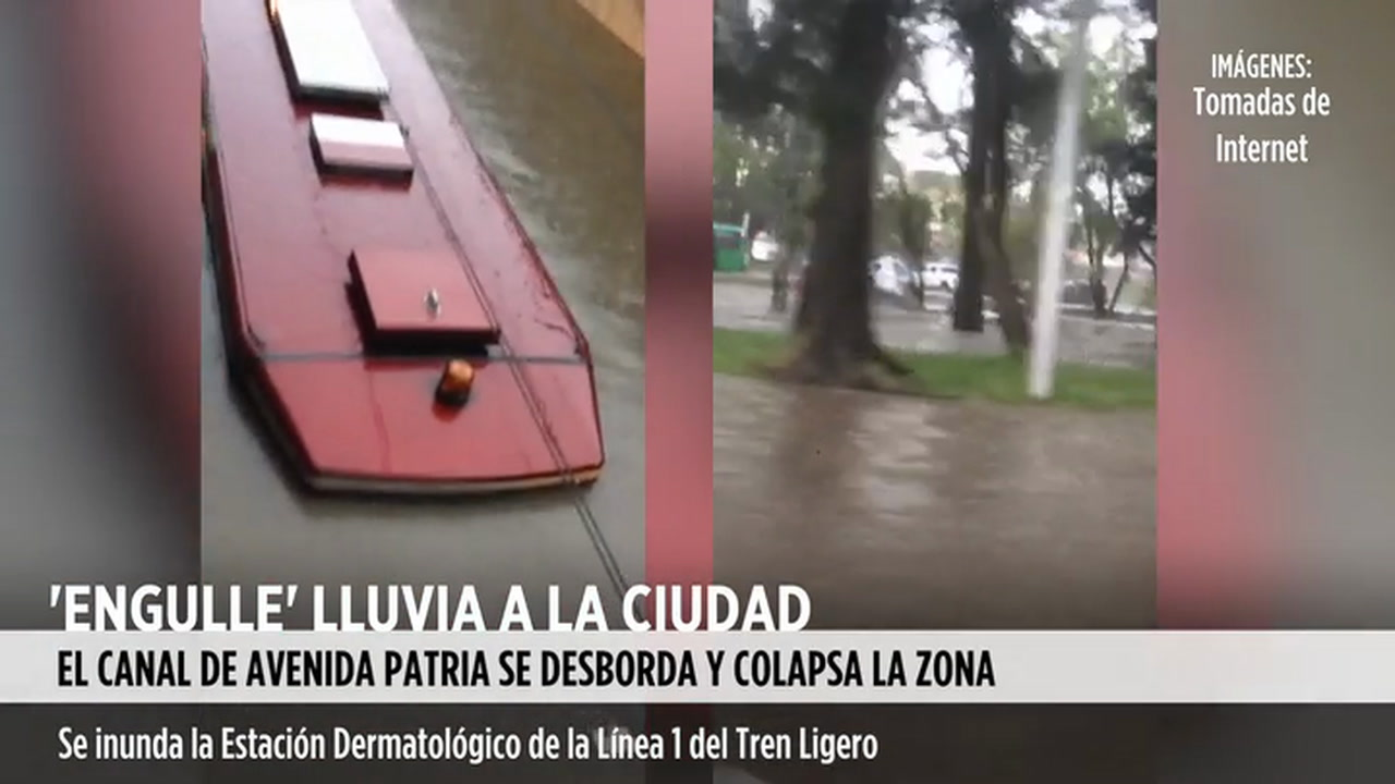 Video: Inundaciones en Guadalajara.