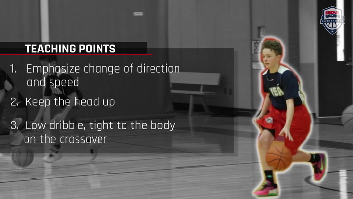 Dribbling On The Move - Crossover Dribble