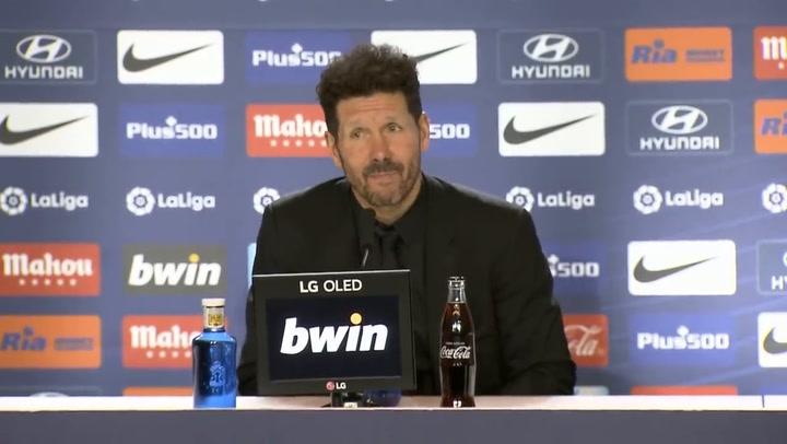 Rueda de prensa de Diego Pablo Simeone tras el Atlético Madrid-Osasuna