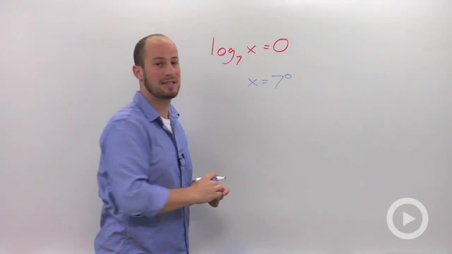 Solving Simple Logarithmic Equations - Problem 5