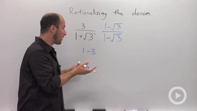Rationalizing a Denominator with a Binomial