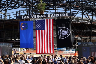 Raiders Topping Ceremony of Allegiant Stadium in Las Vegas – Video