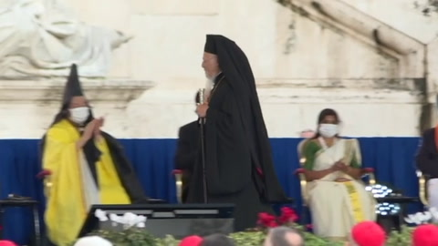 Francisco ora en Roma con líderes de varias religiones por la paz y la pandemia