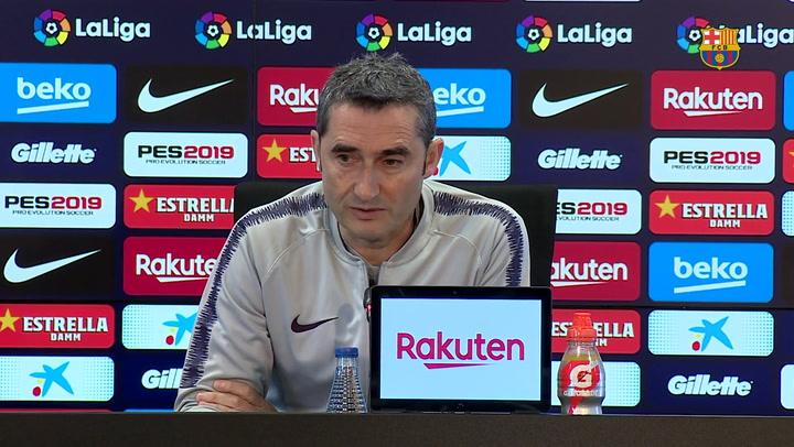 Rueda de prensa de Valverde previa al derbi