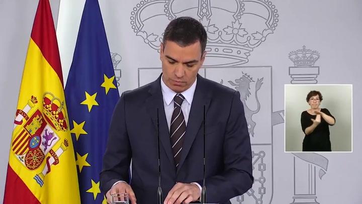 Pedro Sánchez anuncia que la Liga de fútbol regresa a partir de 8 de junio