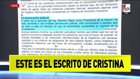 Cristina recusó a Bonadio, pidió la nulidad de la causa y denunció persecución