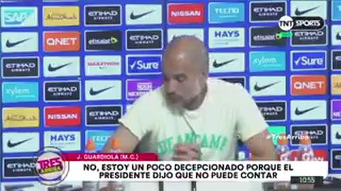 Estoy decepcionado por lo que dijo, respondió Pep Guardiola sobre Chiqui Tapia: