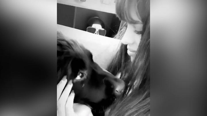 Sara Sálamo, enamorada de su mascota