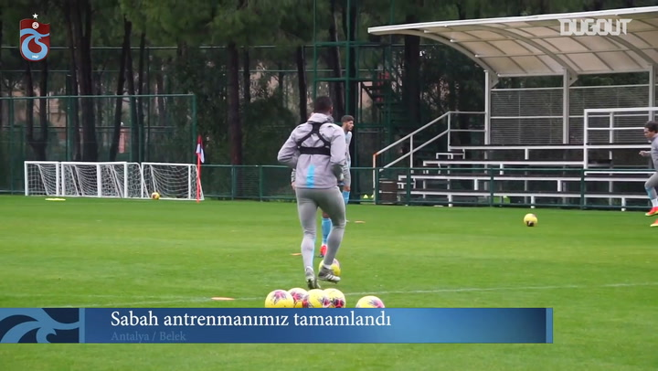 Trabzonspor hazırlıklara devam ediyor