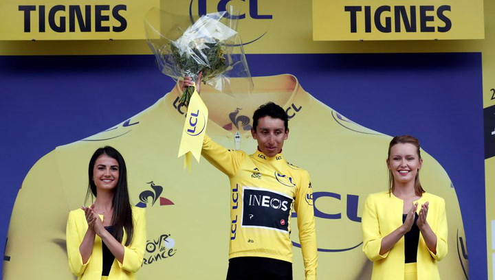 Egan Bernal nuevo líder del Tour de Francia