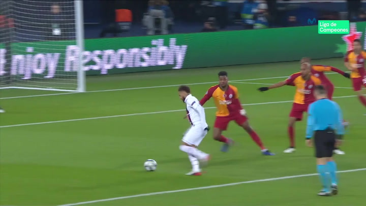 Champions League: PSG - Galatasaray. Gol de Neymar (3-0)