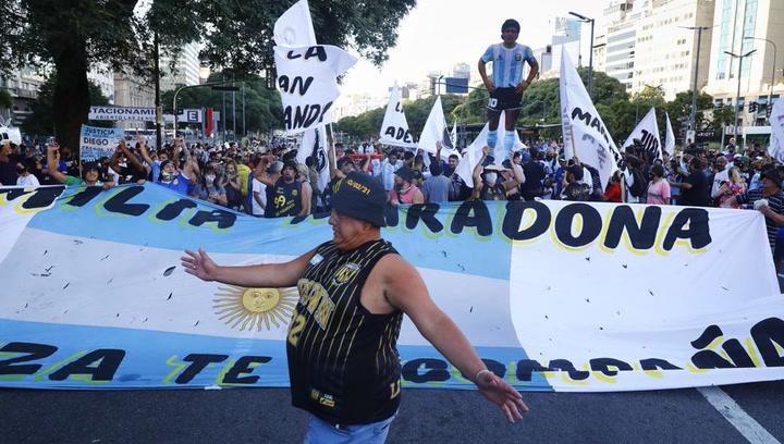 """Manifestación por Maradona: """"No se murió, lo mataron"""""""