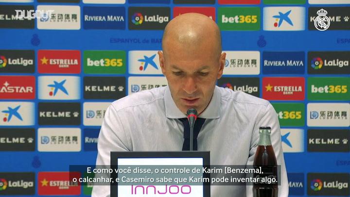 Zidane evita euforia e diz que LaLiga será decidida no final