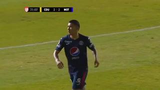 ¡Qué golazo y doblete! Kevin López revive a Motagua y pone el 2-2 ante Universitario en Liga Concacaf