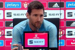Messi, dolido previo a la final de Copa: ''Fue un palo durísimo caer ante Liverpool, me sigo reponiendo''