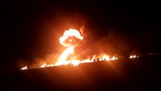 Muertos y heridos por incendio en ducto de combustible en México