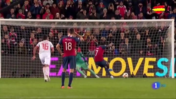 Resumen del Noruega 1-1 España