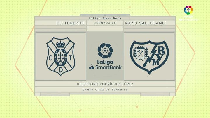 LaLiga SmartBank (J28): Resumen del Tenerife 0-0 Rayo Vallecano