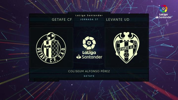 LaLiga Santander (J37): Resumen y goles del Getafe 2-1 Levante