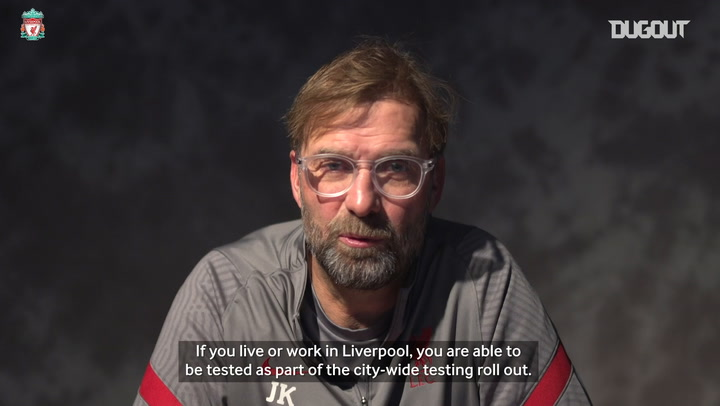 Jürgen Klopp with a message for the people of Liverpool