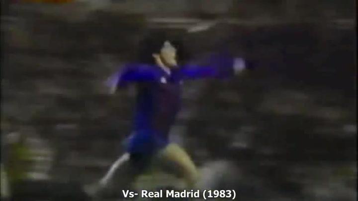 Todos los goles de Maradona con el Barça
