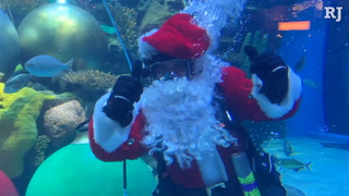 Underwater Santa At The Silverton