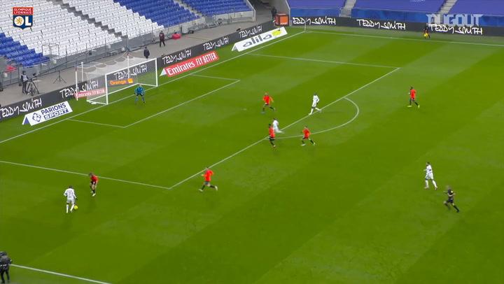 Guimaraes' first goal at Olympique Lyonnais