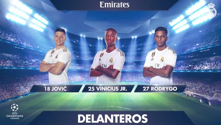 Los 19 convocados por Zidane para el partido ante el PSG