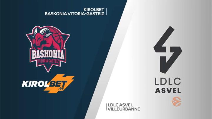 KIROLBET Baskonia Vitoria-Gasteiz - LDLC ASVEL Villeurbanne Resumen del partido de Euroliga