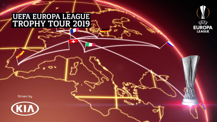 UEFA Europa League Trophy Tour 2019 | Moscow | Kia