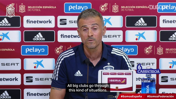 Luis Enrique on Barça's situation