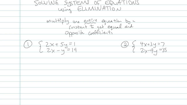 Solving Systems of Equations using Elimination - Problem 7