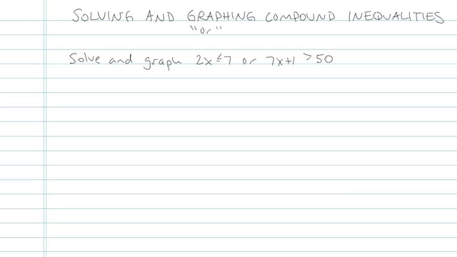 Solving and Graphing Compound Inequalities - Problem 8