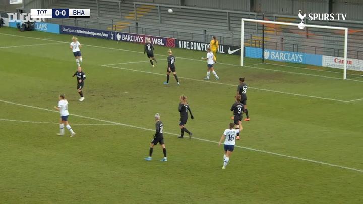 Ashleigh Neville nets winner against Brighton & Hove Albion Women