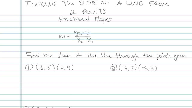 Finding the Slope of a Line from 2 Points - Problem 5