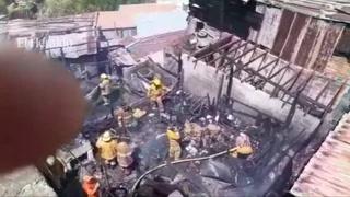Incendio consume al menos tres viviendas en La Fraternidad de Tegucigalpa