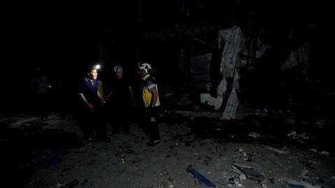 Bombardeos en bastión yihadista de Siria dejan 14 civiles muertos