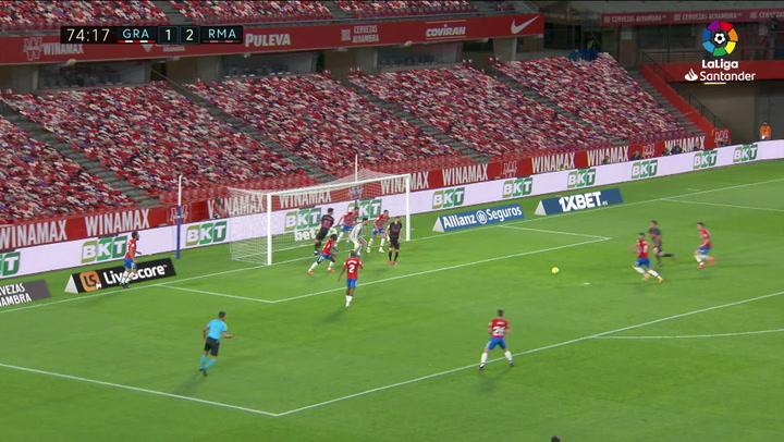 Gol de Odriozola (1-3) en el Granada 1-4 Real Madrid