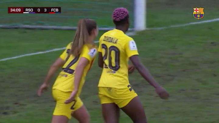 Final de la Supercopa Femenina de fútbol: Gol de Oshoala (0-4)