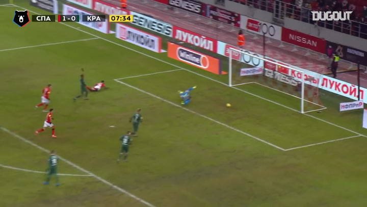 Quincy Promes' first goal since his return to Spartak
