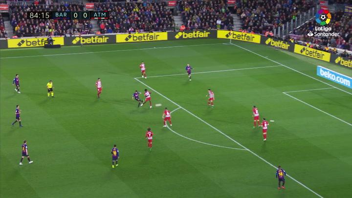 LaLiga: Barça - Atlético Madrid. Gol de Luis Suárez en el minuto 85 (1-0)