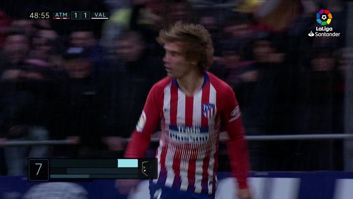 LaLiga: Atlético Madrid - Valencia. Gol de Antoine Griezmann en el minuto 49 (2-1)