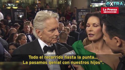 Michael Douglas y Catherine Zeta-Jones hablan de sus vacaciones en Roatán