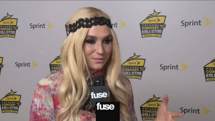 Interviews: Kesha at NBA ALL STAR